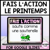 French Spring Brain Break-Fais l'action pause active