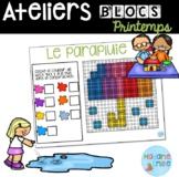 French Spring Building blocs mats/ Atelier Blocs construct