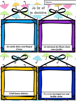 French Spring Bundle- Vocabulary + Math + Literacy Center Games