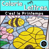 French Spring Color by Letter | Coloriages Magiques du Pri