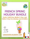 French Spring Holiday Bundle: March-June Holiday Vocabulary and Activities