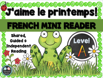 French Spring Mini Reader, Vocabulary Cards & Reading Assessment