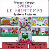 French Spring Mystery Pictures! Color By Number / Grid for Spring