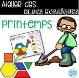 French Spring Pattern blocs mats/ Atelier Blocs mosaïques