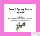 French Spring Poems Bundle | Des poèmes pour le printemps