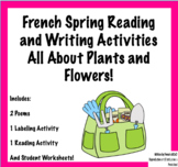 French Spring Reading + Writing Activities - All About Plants + Flowers