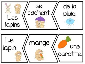 French Spring Sentence Scramble