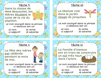 French Spring Task Cards - Le printemps