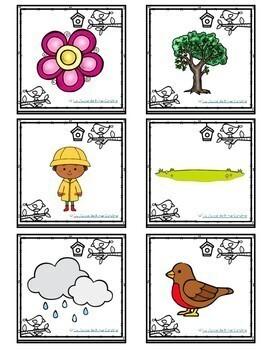 French Spring Vocabulary Game: BANG! Le Printemps