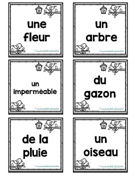 French Spring Vocabulary Game: Petite souris, où es-tu? Le Printemps (mots)