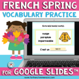 French Spring Vocabulary for Google Slides™ Les mots du pr