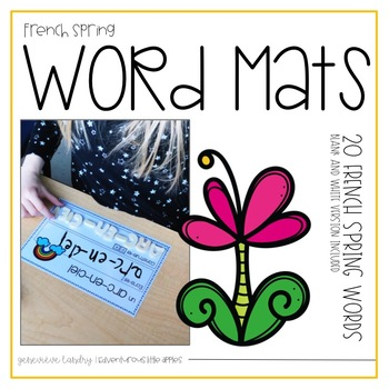French Spring Word Mats