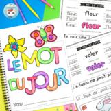 French Spring Worksheets | LE MOT DU JOUR | printemps français GRATUIT