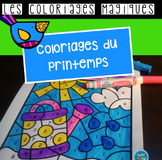 French Spring color by code / Coloriages magiques {printemps}