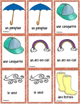 French – Spring – le printemps - Matching game