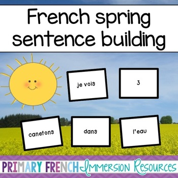 French Spring sentence making/magnetic words - Faire des phrases
