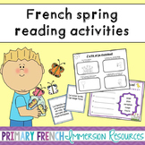 French spring reading activities - Les activités de lecture - Au printemps