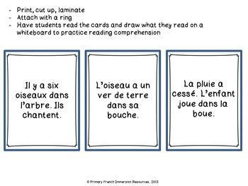 French spring reading activities - Les activités de lecture - Au printemps