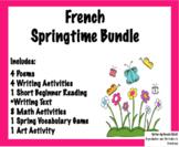 French Spring Unit Activities Bundle | Activités, unité po