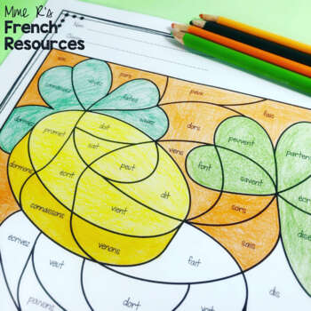 French St. Patick's Day color by code COLORIAGES DE ST PATRICK