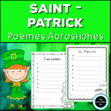 French St Patrick's Day Acrostic Poems | Poèmes Acrostiche
