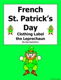 French St. Patrick's Day Clothing Label the Leprechaun