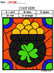 French St Patrick's day color by code / Coloriages magiques {St-Patrick}