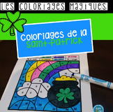 French St Patrick's day color by code / Coloriages magique