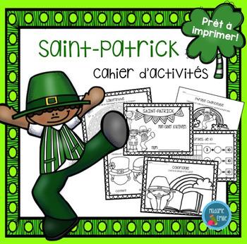 French St Patrick's day printables/ Fiches d'activités de la Saint-Patrick