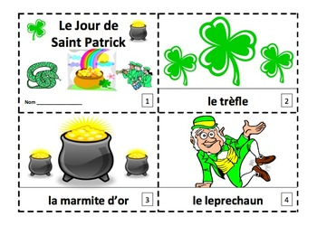 French St. Patrick's Day 2 Emergent Reader Booklets - Saint Patrick