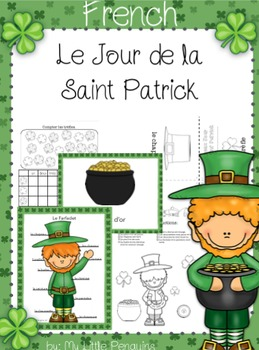 French: St. Patrick's Day (Le Jour de San Patrick) worksheet and posters