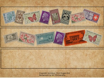 French Stamp Border