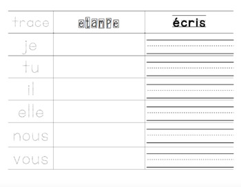 French Stamp and Write Syllables