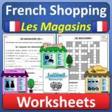 French Stores Faire du Shopping Les Magasins en Ville Worksheets