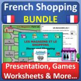 French Stores and Shopping Les Magasins en Ville BUNDLE