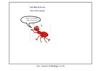 French Story - Mimi la fourmi