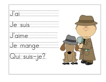 French Story Writing Stem Posters