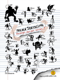 French Storytelling Characters Poster