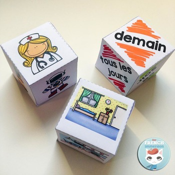 French Storytelling Dice - dés pour raconter des histoires by For French Immersion