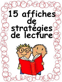 """French: """"Stratégies de lecture: 15 affiches"""", French"""