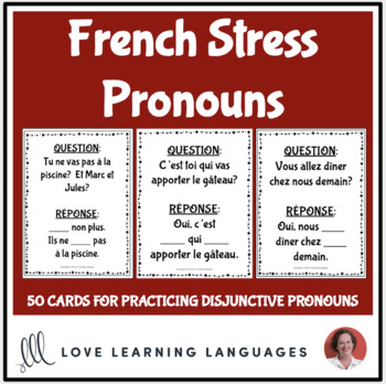 French Order Of Pronouns Worksheets & Teaching Resources | TpT
