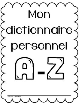French Student Desk Dictionary - Lined, Ready to Fill
