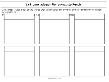 French Sub Plans (French Art; Painter Pierre-Auguste Renoir)