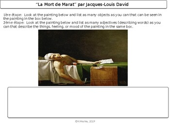 French Sub Plans (French Art; Jacques-Louis David)
