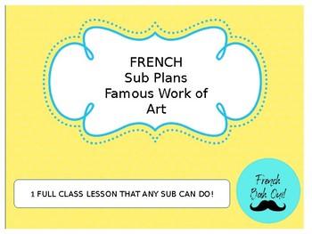 French Sub Plans (French Art; Painter Jean-Baptiste Raguenet)