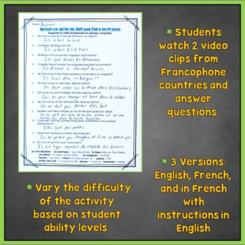 French Sub Plans, Supply Plans for French 1, 2, and 3, Emergency Plans