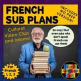 French Sub Plans, Supply Lessons for French 1, 2, and 3, Emergency Plans