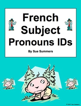 French Subject Pronouns Picture IDs Worksheet