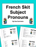 French Subject Pronouns Skit / Role Play / Dialogue