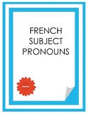 French Subject Pronouns game
